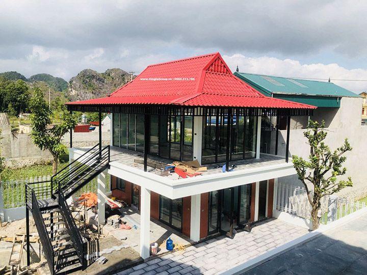 Thi công lắp đặt cửa nhôm Xingfa nhập khẩu chính hãng tại Ninh Bình