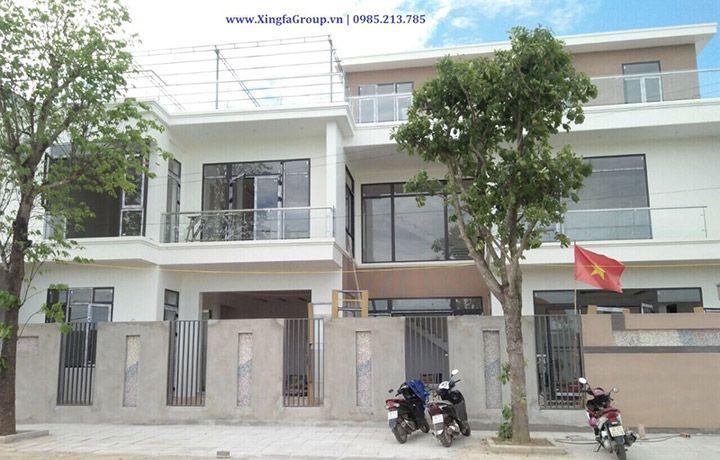 Công trình thi công lắp đặt cửa nhôm Xingfa nhập khẩu tại Sầm Sơn, Thanh Hóa