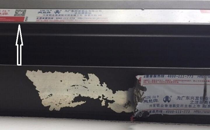Hình ảnh cửa nhôm XINGFA giả nhái giá rẻ kém chất lượng hiện nay