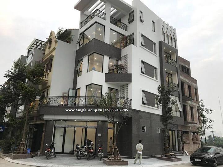 Lắp đặt cửa nhôm Xingfa tại Biệt thự liền kề Tổng cục 5