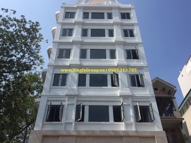 lắp đặt cửa nhôm Xingfa tại Building 100 Yên Lãng, Đống Đa, Hà Nội