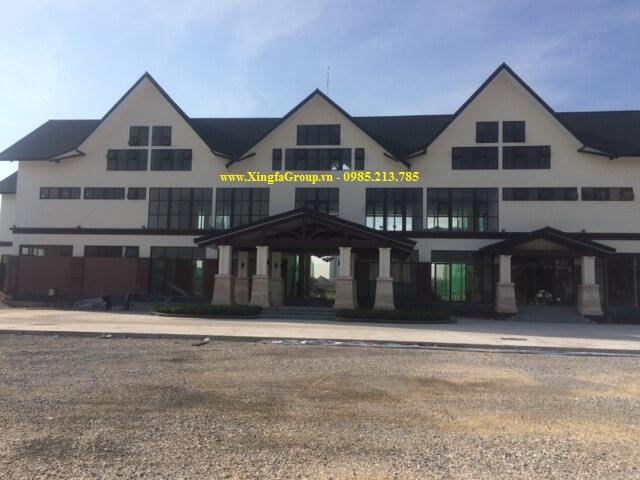 Lắp đặt cửa nhôm Xingfa tại Sân Golf Bộ Quốc Phòng ởLê Trọng Tấn, Hà Nội
