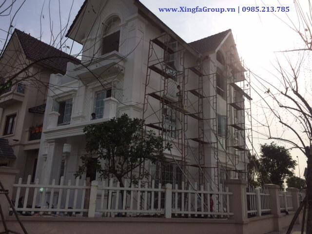 Lắp đặt cửa nhôm Xingfa nhập khẩu tại KĐT Vinhome Riverside, Long Biên
