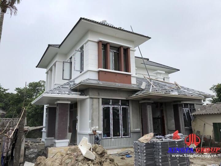 Công trình thi công lắp đặt cửa nhôm Xingfa nhập khẩu tại An Lão
