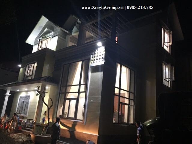 Thi công lắp đặt cửa nhôm Xingfa nhập khẩu tại Biệt thự nhà anh Văn