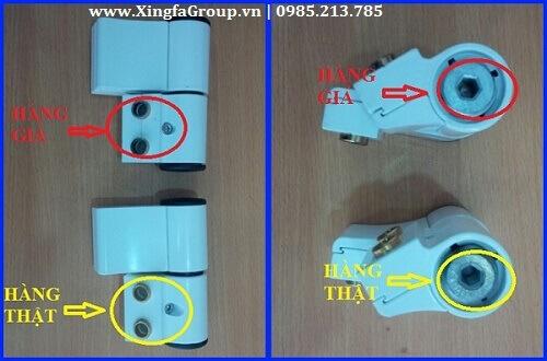 Hình ảnh bản lề 3D Kinlong chính hãng bản lề Kinlong giả nhái