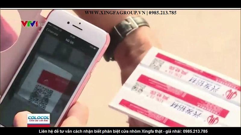 Sử dụng phần mềm Wechat quét mã Code QR nhôm Xingfa bằng điện thoại smartphone