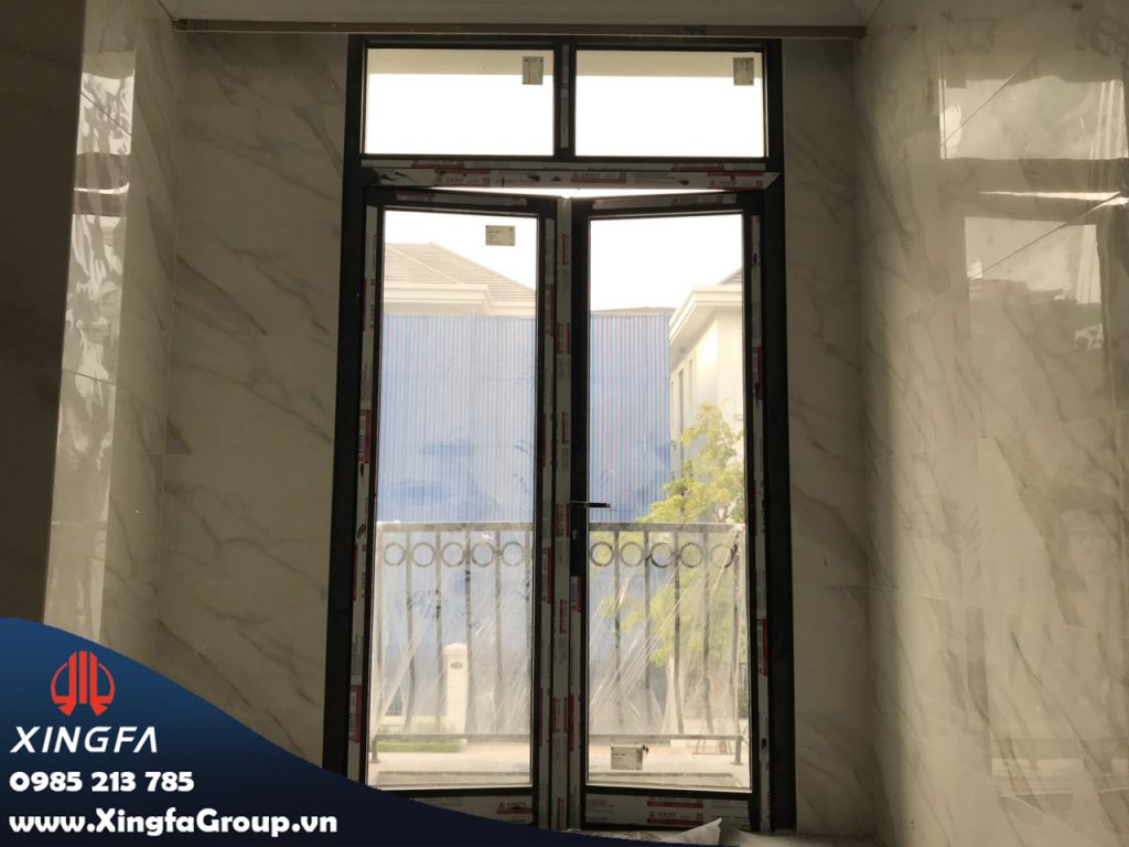 cửa nhôm xingfa tại vinhomes greenbay