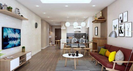 Các mẹo thiết kế phòng khách liên thông nhà bếp đẹp và hiện đại nhất